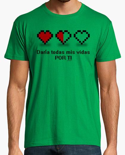 Camiseta 8 bits - Daría todas mis vidas por ti Español