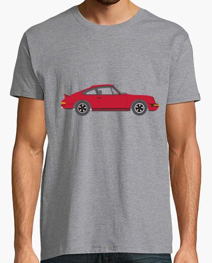 Tee-shirt 911 chemise homme, manches courtes, gris chiné, qualité extra