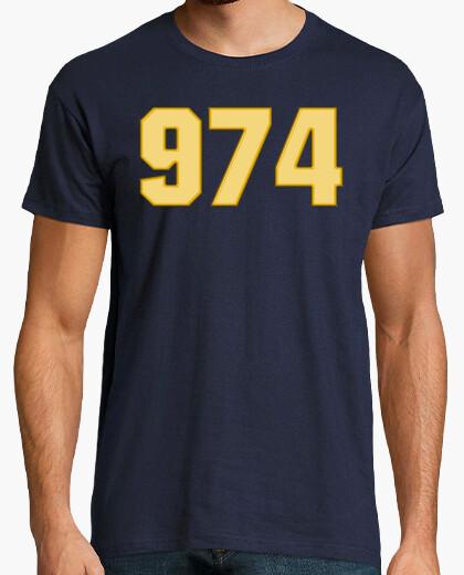 Camiseta 974 amarillo