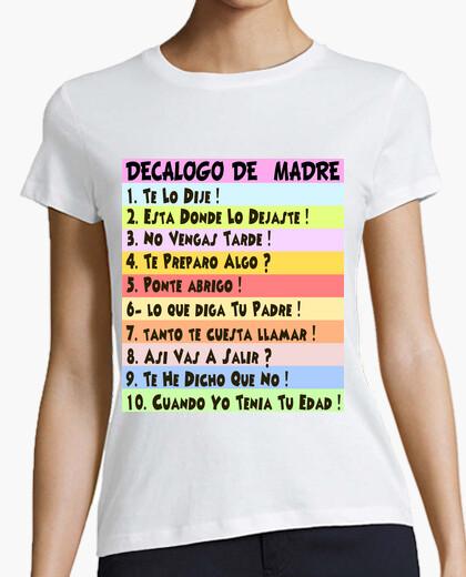 Camiseta  Cooltee DECALOGO MADRES . Solo disponible en latostadora