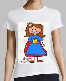 Cooltee SUPERMAMI estilo dibujo escuela . Solo disponible en latostado