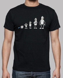 Evolution tv robot  camisetas friki