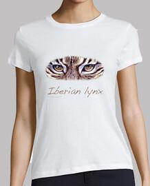 femme  blanche lynx ibérique