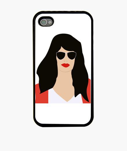 Coque iPhone  femme  brune avec des lunettes