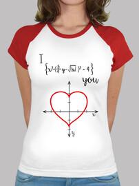 femme  shirt - amour mathématique