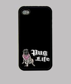 Funda para movil iiPhone 4 o iPhone 4S pug life