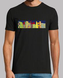 homme  de la ville  T-shirt  doigt