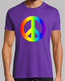 homme  t-shirt paix