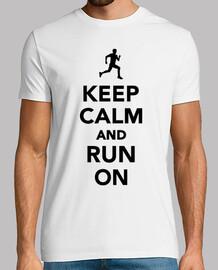keep calm  et courir sur