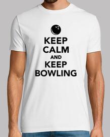 keep calm  et de garder le bowling