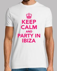 keep calm  et faire la fête à ibiza