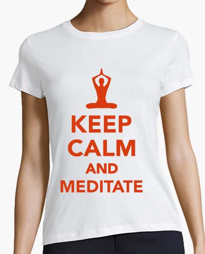 Tee-shirt  keep calm  et méditer