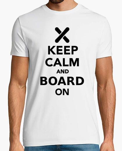 Tee-shirt  keep calm  et planche sur