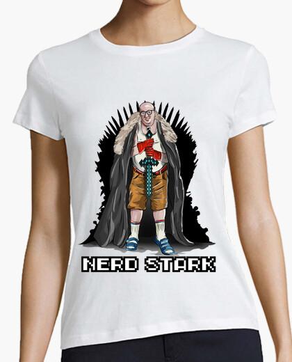 de White 748527 Camiseta Nerd Stark mujer rtshdCQ