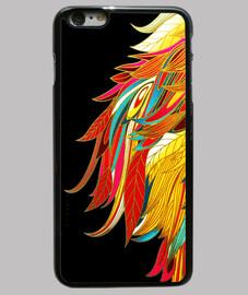 plumas colores -funda iPhone 6 Plus