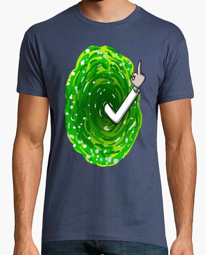 T-shirt  rick   da  come  mano