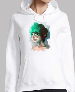 sweat-shirt  girl portrait
