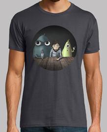 t-shirt  garçon trois types étranges plusieurs couleurs