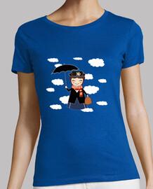 tee shirt  bleu ciel mary kokeshi p.