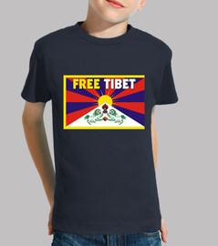 tee shirt  bleue - free tibet