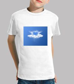 tee shirt  bleue cuore enfant