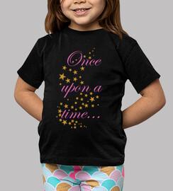 tee shirt  de  femme  était une fois ...