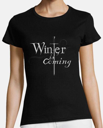 tee shirt  de  femme  hiver est coming (game of thrones)