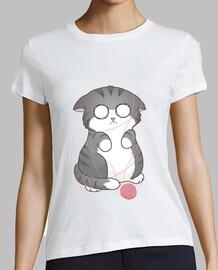 tee shirt  de  femme  scaredy de chat