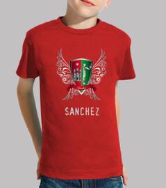 tee shirt  enfants manteau nom sanchez
