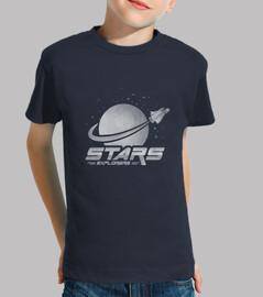 tee shirt  explorateurs de l'espace des enfants