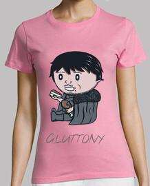 tee shirt  gluttony- femme