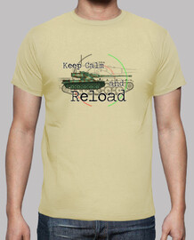 tee shirt  homme keep calm and recharger