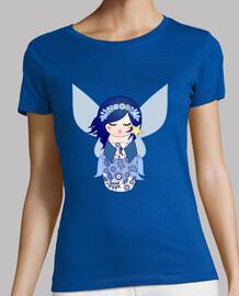 tee shirt  kokeshi fée bleue