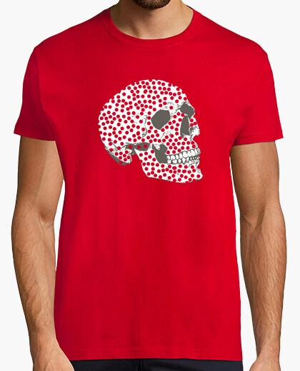 Tee-shirt  tête de mort  avec des points