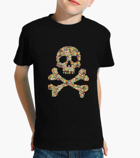 Vêtements enfant  tête de mort  de pixel