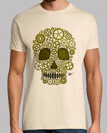 tête de mort  de Steampunk d'or !!!