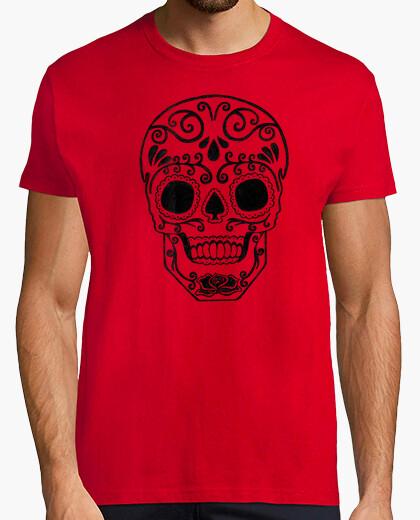 Tee-shirt  tête de mort  de sucre transparent