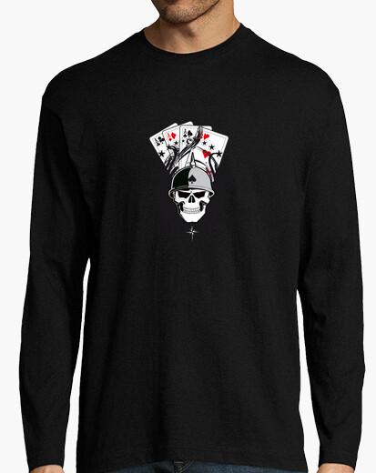 Tee-shirt  tête de mort  et le poker