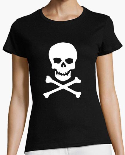 Tee-shirt tête de mort fille, manches courtes,