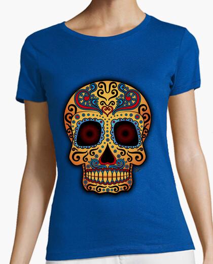 Tee-shirt  tête de mort  mexicain tribale !!!