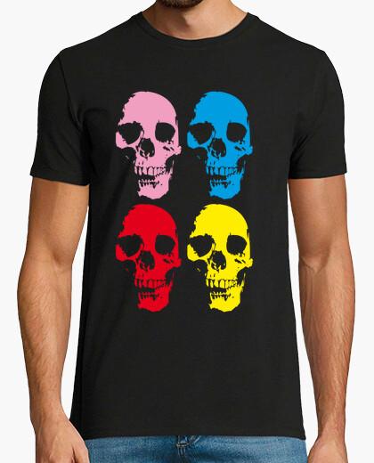Tee-shirt  têtes de mort  colorés
