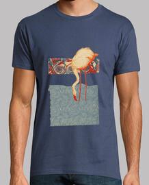 vintage  flamant rose  T-shirt  homme