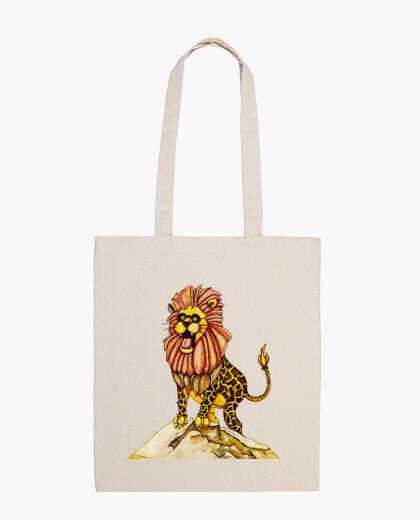 Bolsa A lion with giraffe costume