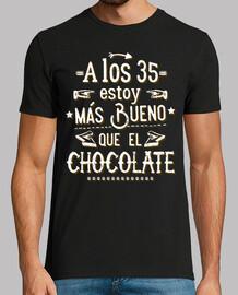A los 35 más bueno que el chocolate