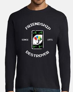 à manches longues hommes t-shirt de destroyer de l'amitié