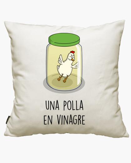 A p  in vinegar cushion cover