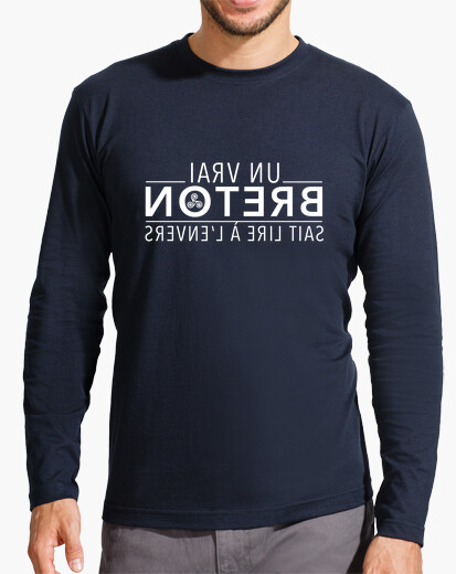 A real breton can read upside down t-shirt