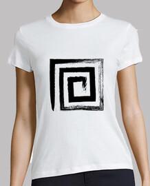 a spirale quadrato - colore nero
