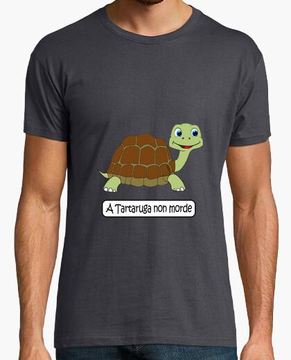 Camiseta A tartaruga non morde