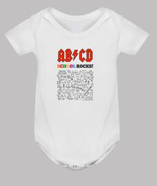ABCD School Rocks! - Blanc - Bébé